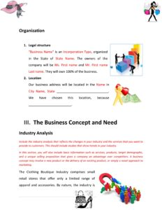 Retail Fashion Store Business Plan Template (Physical Location)