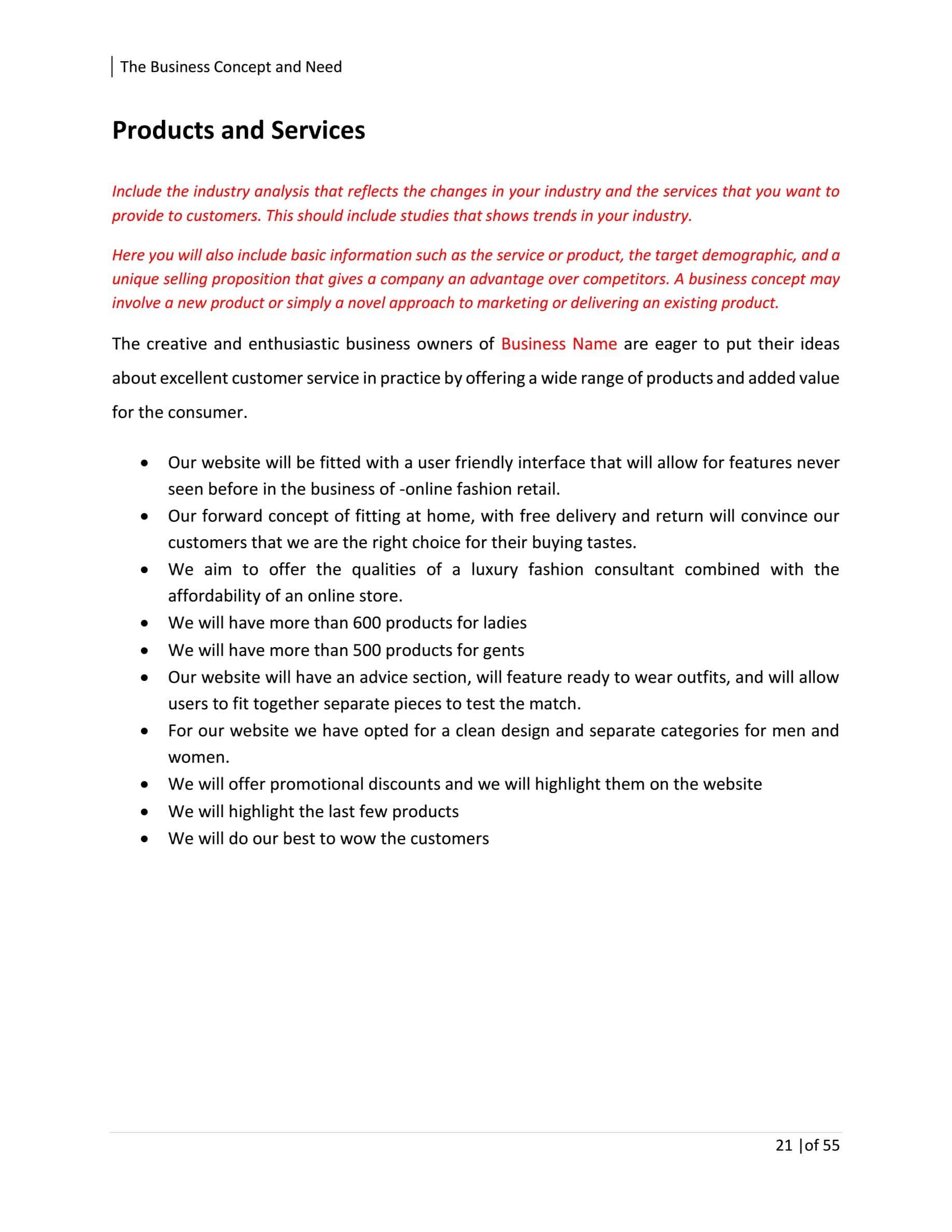 Boutique business plan sample esl masters letter assistance
