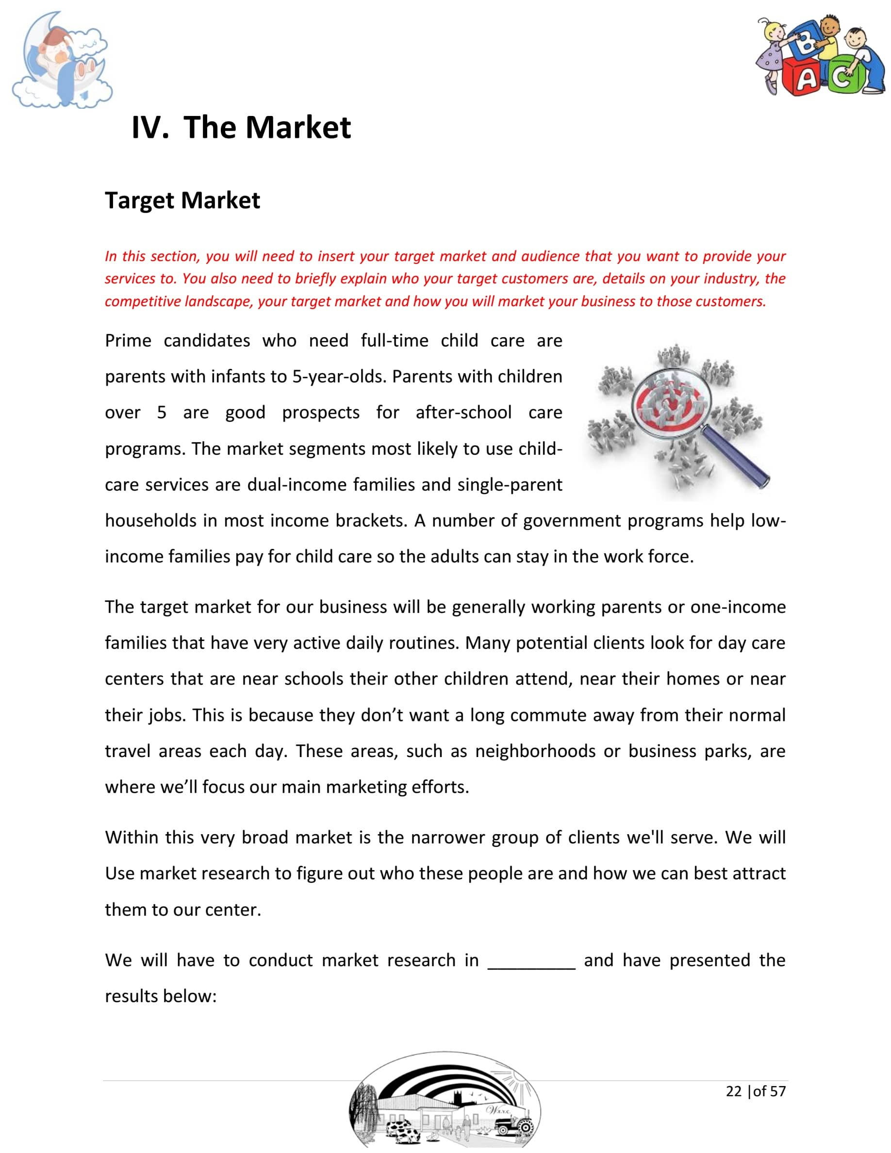 Day Care Business Plan Template Sample Pages Black Box