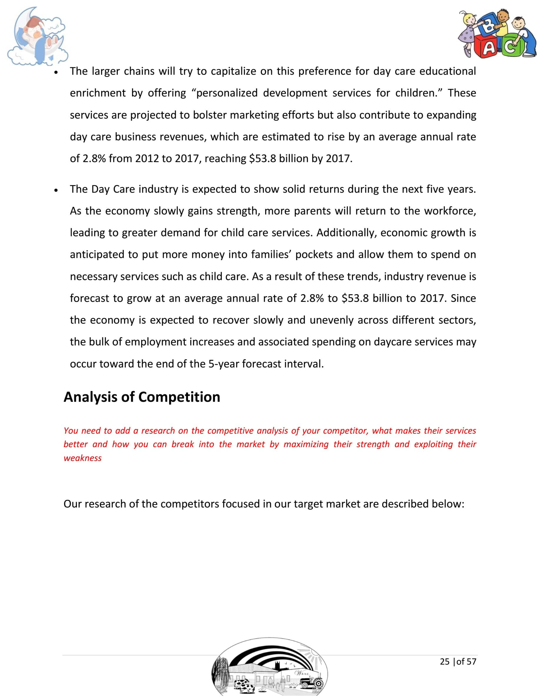 Day care business plan template sample pages black box business plans day care business plan template cheaphphosting Image collections