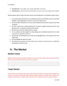 Food Truck Business Plan Template