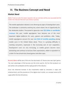 Mobile App Business Plan Template