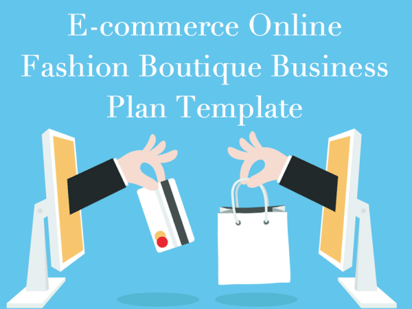 Fashion online store business plan template