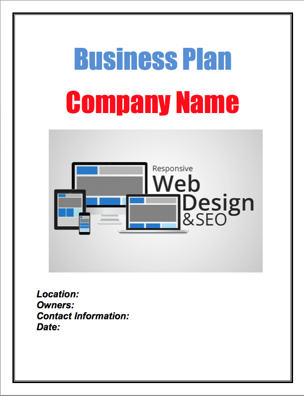 Website Design and Development Business Plan Sample Pages - Black ...