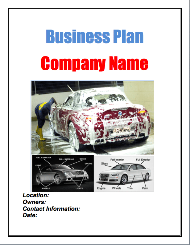 Starting a Mobile Auto Detailing Company – Sample Business Plan Template