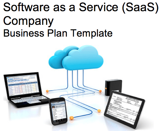 SaaS Software As A Service Company Business Plan Template Black - Saas business plan template