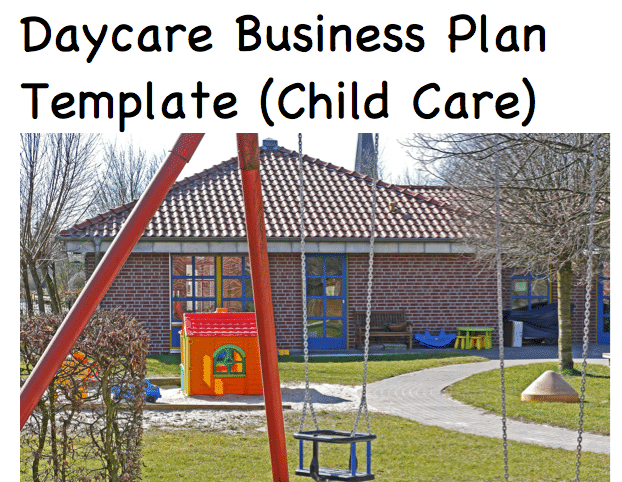 Daycare business plan template child care black box business plans flashek Images